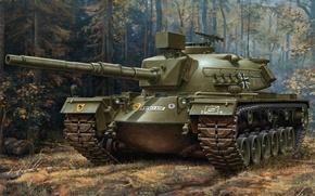 Картинка рисунок, танк, германия, бундесвер, G.Klawek, M-48 A2 GA2