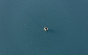 Обои lake, boat, fisherman