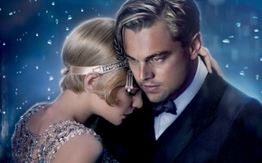 Картинка Кэри Маллиган, Leonardo DiCaprio, Леонардо ДиКаприо, американская классика, The Great Gatsby, Нью-Йорк, 20-е годы, Френсис ...