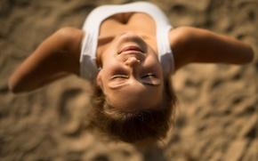Картинка девушка, солнце, улыбка, декольте, Даша, Антон Печкуров, Дарья Гунчикова