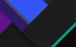 Картинка Android, Blue, Black, Line, Abstractions