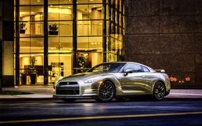 Картинка Nissan, GT-R, ниссан, R35, US-spec, 2015, 45th Anniversary Gold Edition