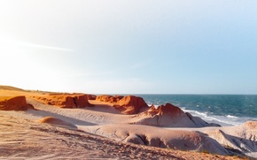 Картинка beach, sea, sunset