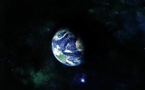 Обои вселенная, земной шар, планета, космос