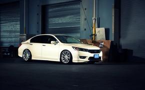 Картинка white, wheels, Honda, Accord, хонда, аккорд, Galpin