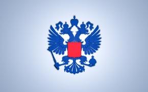 Картинка обои, флаг, орёл, Россия, герб