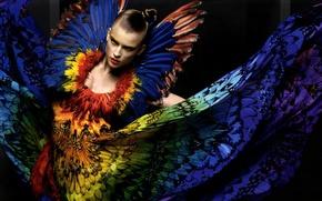 Картинка девушка, стиль, жар-птица, мода