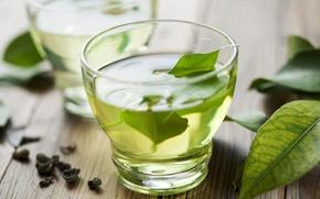 Картинка чай, чашка, зелёный, напиток