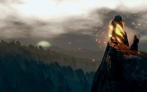 Картинка пейзаж, Ведьмак, Meditation, The Witcher 3:Wild Hunt, место силы