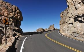 Обои дорога, небо, горы