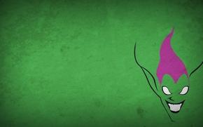 Обои минимализм, рисунок, green goblin