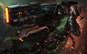 Обои оружие, плащ, арт, sci-fi, Doctor Doom, фантастика