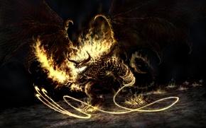 Обои Огонь, Балрог, Властелин колец, Демон, Balrog
