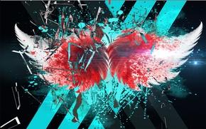 Картинка blood, line, glass, wings, broken glass