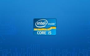 Обои intel i5, hitech, intel, logo