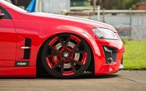 Картинка красный, колесо, red, диск, rim, Holden, холден, hsv