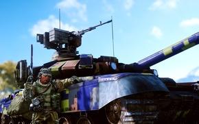 Картинка оружие, солдат, танк, Battlefield 4