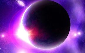 Картинка space, planet, violet