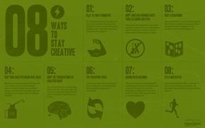 Обои креатив, надпись, минимализм, 8 ways to stay creative