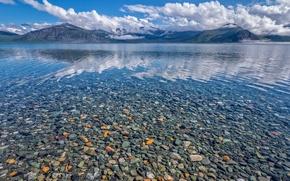 Картинка горы, камни, краски, Канада, территория Юкон, озеро Клуэйн