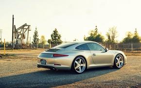 Картинка Porsche, порше, carrera, 991, rearside