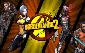 Картинка logo, Maya, RPG, 2K Games, Borderlands 2, Gearbox Software, Zer0, Unreal Engine 3, Salvador, Axton, ...
