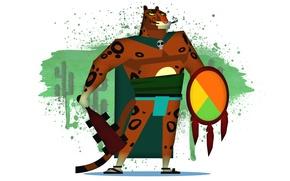 Картинка Guacamelee, карточки Steam, Jaguar Javier