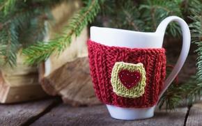 Картинка рождество, чашка, ёлка, декор