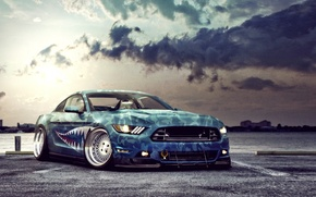 Картинка Mustang, Ford, Car, 2015, Stancing
