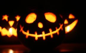 Картинка свет, Улыбка, Halloween, Хэллоуин, фонарь Джека