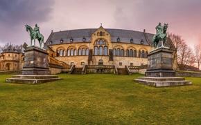 Картинка газон, Германия, дворец, памятники, Kaiserpfalz Goslar