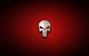 Обои cinema, skull, red, Punisher, movie, film, 2004, comix, HQ, by kalangozilla