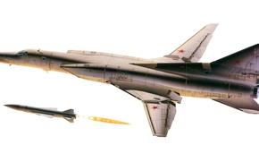 Картинка ракета, Буря, бомбардировщик, Storm, ракетоносец, Tupolev, Туполев, rocket, сверхзвуковой, дальний, с изменяемой геометрией крыла, Ту-22, …