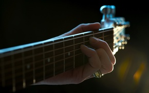 Обои макро, музыка, гитара