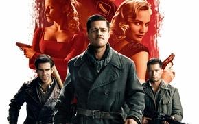 Картинка Брэд Питт, Brad Pitt, Бесславные ублюдки, Вторая Мировая война, Quentin Tarantino, Квентин Тарантино, Inglourious Basterds