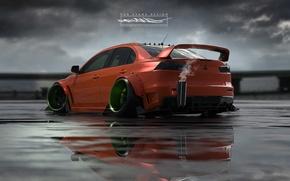 Картинка Авто, Машина, Mitsubishi, Lancer, Car, Evolution, Roben Evans Design