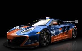 Обои GTR, McLaren, Gulf MP4 12C