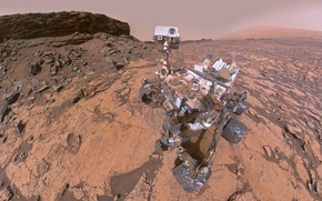 Обои Curiosity, Кьюриосити, Марс, марсоход