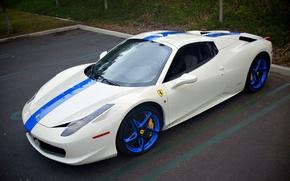 Картинка Ferrari, 458, Italia, Supercar, Edition, Blue/White