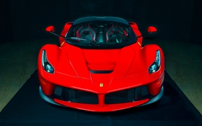 Обои ferrari, laferrari, red, hot, supercar, color, power, front
