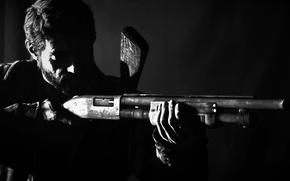 Картинка темнота, оружие, The Last of Us, Джоэл, Последние из нас