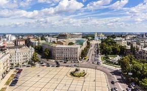 Картинка Киев, фото, Украина, дома, город, памятник