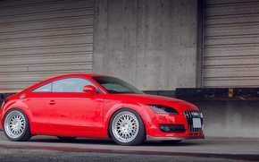Картинка Audi, red, tuning