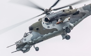 Картинка полет, вертолёт, боевой, Ми-24