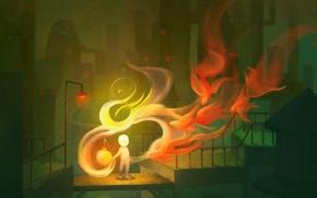Картинка свет, огонь, Рисунок, фонарь