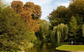 Картинка природа, пруд, фото, сад, Дания, Copenhagen, Botanical