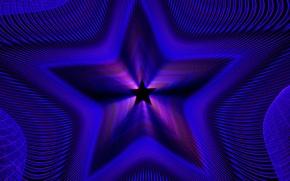 Обои свет, линии, звезда, цвет, симметрия