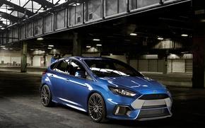Картинка фото, Ford, Голубой, Автомобиль, 2015, Металлик, Focus RS