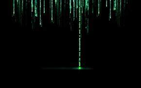 Обои надпись, матрица, точка, буквы, символы, matrix, код