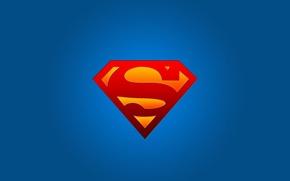 Обои superman, супергерой, символ, супермен, логотип